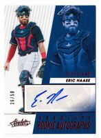 ERIC HAASE RC 2019 ABSOLUTE ROOKIE AUTO #36/50 RED PARALLEL INDIANS