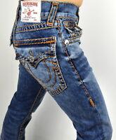 True Religion $329 Men's Hand Picked Burn Orange Super T Straight Jeans - 101122