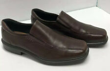 Ecco Brown Leather Slip On Driving Shoes Loafers Euro 45 US 11-11.5 R