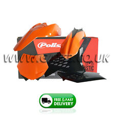 KTM 250EXCF EXCF 250 2008-2011 Orange/Black Polisport Plastics Kit Fairings