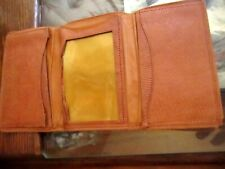 True Vtg 30s 40s SUPREME PATINA KID LEATHER TRIFOLD ID BILLFOLD WALLET
