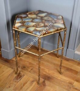 Wild Agate Stone Corner Side Small Table Coffee/ Dinning/Sofa/Center Table Tops