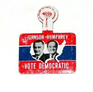 1964 LYNDON B. JOHNSON LBJ VOTE DEMOCRATIC TAB campaign presidential political