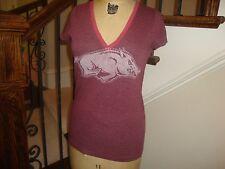 Victoria's Secret PINK NCAA Arkansas Razorbacks Fitted T Shirt M