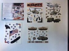 NEW Creative Memories STARS AND STRIPES - MARINES/ARMY STICKER PACK