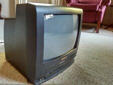 "RETRO GAMNG TV! 13"" Panasonic Omnivision PV-C1320 VCR, FM TUNER CRT front A/V"