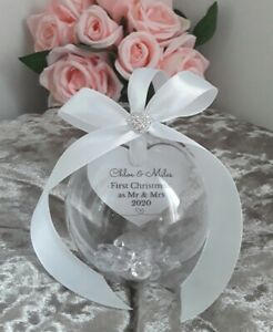 First Christmas as Mr & Mrs Bauble, Mr & Mrs Ornament, Personalised bauble