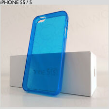 BLUE STYLISH ULTRA THIN iPHONE 5S & 5 CLEAR CASE FASHION CIRCLE PATTERN COVER