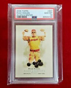 2006 Topps Allen & Ginter  #307 Hulk Hogan PSA 10 GEM MINT