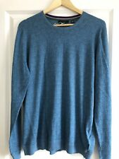 c2d6828cd NEW  Ted Baker Men s fitted Graphic Print Blue Cotton Jumper in Size 6   XXL