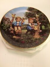 M.I. Hummel Collectible Plate Apple Tree Boy & Girl Danbury Mint Germany