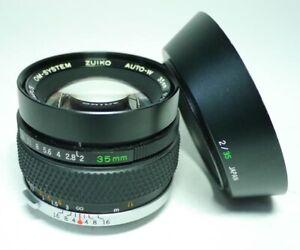 Olympus Zuiko Auto-W OM 1:2 35mm F2 Objektiv An-Verkauf!  ff-shop24