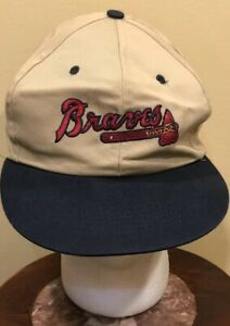 Chick-Fil-A Braves Khaki Adjustable Ball Cap Uniform Hat PreOwned