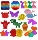 FOR Push Pop Bubble Kids Toy Special Need Silent Sensory Fidget Autism Classroom