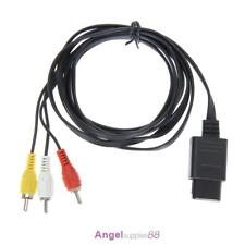 1.8m 6FT AV TV RCA Game Video Cable Cord for Snes Nintendo 64 N64