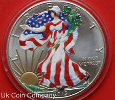2013 American Unc 1oz Fine Silver Coloured Liberty Eagle $1 One Dollar Coin