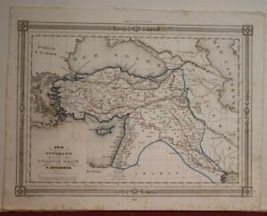 TURKEY CUPRUS ARMENIA MIDDLE EAST 1846 LEVASSEUR ANTIQUE LITHOGRAPHIC MAP