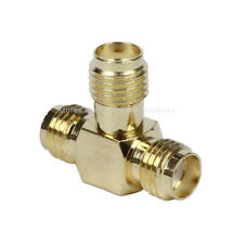 SMA Female to Female (T) Adapter in Series 3 Way Splitter Connector RF Coax Plug