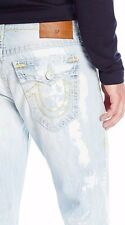 New True Religion RICKY SUPER T DESTROYED Jeans size 32 $379 INDIGO OASIS