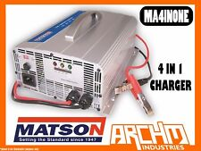 MATSON MA4INONE - 4 IN 1 CHARGER  HEAVY DUTY VOLTAGE 12-48V 15-30AMP LED BATTERY