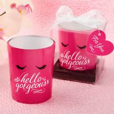 70 Hello Gorgeous Pink Votive Candle Holder Wedding Bridal Shower Party Favors