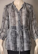 "*New - Tags* DAVID LAWRENCE Sz 10 ""Daydreamer"" Chiffon Blouse, Top, SHIRT $199"