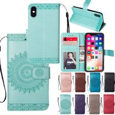 For Apple iPhone X 8 7 6 Plus SE Flip Mandala Leather Magnetic Wallet Case Cove