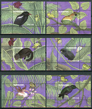 Suriname 2018 MNH Nature Birds Owls Flowers Butterflies 12x 1v S/S Stamps