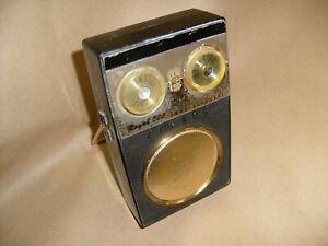 Vintage Black Zenith 500 Royal Deluxe Transistor Radio for Parts or Repair