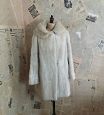 Vintage ladies white / ivory mink fur coat, 1960s