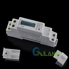 Digital LCD Display LED S0 5 (32) A DIN-Rail Kilowatt Hour Kwh Meter Watt Meter