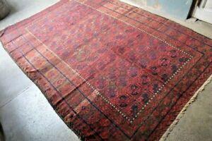 COLLECTORS' PIECE Antique Star Jan Bagi Sistan Tribal Belouch Nomadic Carpet