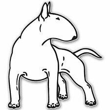 Aufkleber / Autoaufkleber BULL TERRIER dog 152mmx152mm - US4917D Laptop Tuning