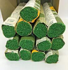 New listing Vintage Ryagarn Yarn 100%Wool Latch Hook Rug England Box of 19 Pks Emerald Green