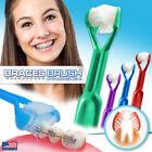 4-PK DenTrust 3-Sided Braces Brush  Clinically Proven for Orthodontic Brackets