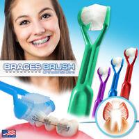 4-PK~ DenTrust 3-Sided Braces Brush | Clinically Proven for Orthodontic Brackets