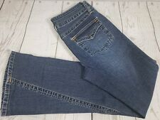 Supreme Gasoline Flare Jeans Sz 5 Women Blue Denim Medium Wash Distressed Pants