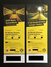 2 Tickets Borussia Dortmund Werder Bremen Nordosttribüne Gästeblock 56 Sitzplatz