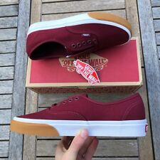 Vans Old Skool Authentic Gum Bumper Red And White Size UK 10 Brand New With Box