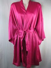 Victoria's Secret Hot Pink Wrap Robe One Size Fits Most Short Sleeve