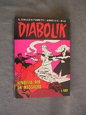 DIABOLIK ORIGINALE ANNO XIX n° 13 - 1980 - RARO - OTTIMO