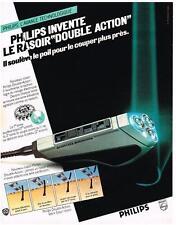 PUBLICITE  1980   PHILIPS  rasoir double action
