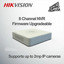 8 Channel NVR HD 1080P Supports Up to 2 mp cameras Hikvision DS-7108NI-SN