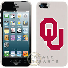 Apple iPhone 5S/SE Licensed Shield NCAA Oklahoma Sooners White Case Cover Shield