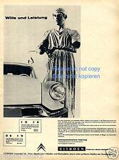 Citroen ID DS 19 Publicité de 1960 Publicité Ad