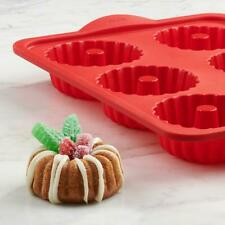 NEW Pack of 2 Silicone Mini Bunt Pans by Trudeau, Red - Best Seller