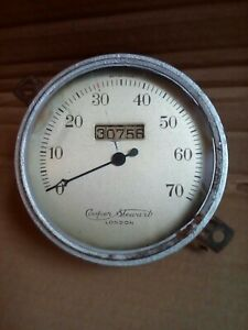 Vintage Pre-war. Classic Car Ford Cooper Stewart 70 mph Speedometer.