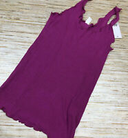 TT-71 BP by Nordstrom lettuce edge ribbed soft knit tank PINK size M new