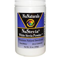 NuStevia White Stevia Powder (340g) - NuNaturals