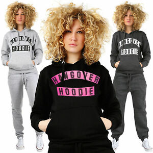 Ladies HANGOVER HOODIE Women's Plain Printed PLUS SIZE Sweatshirt